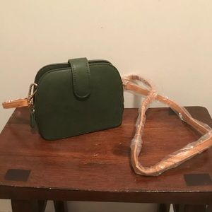 New Anthropologie Green and gold Crossbody